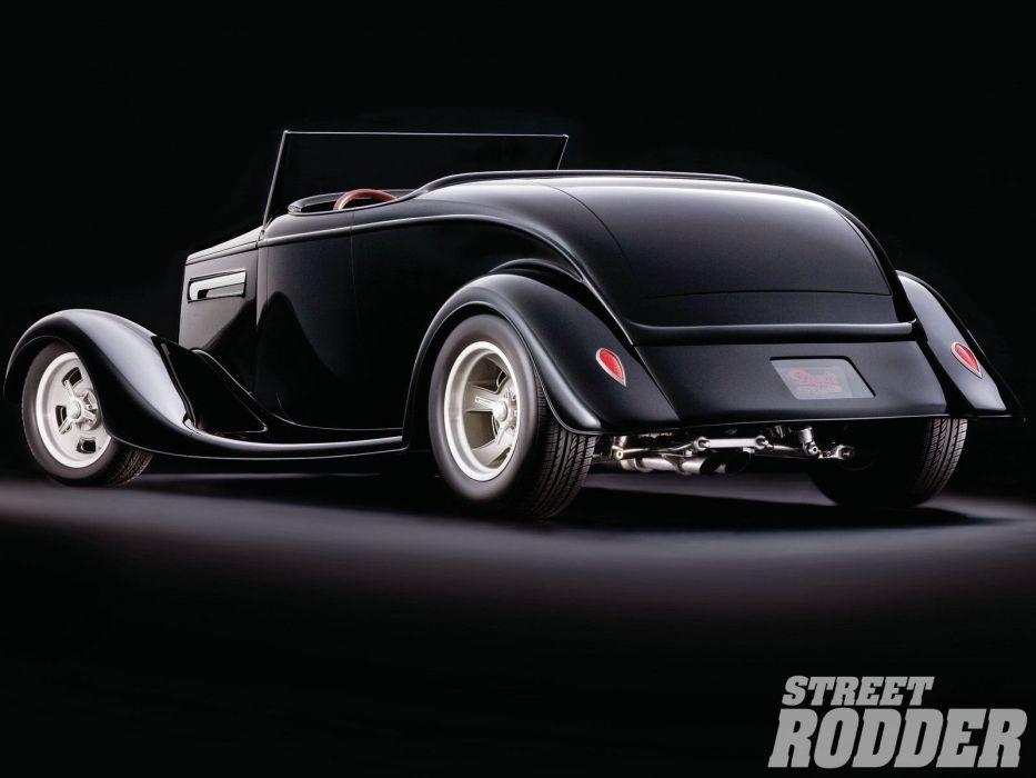 1934 Ford Roadster Hotrod Streetrod Hot Rod Street White Black USA 1600x1200-02 wallpaper