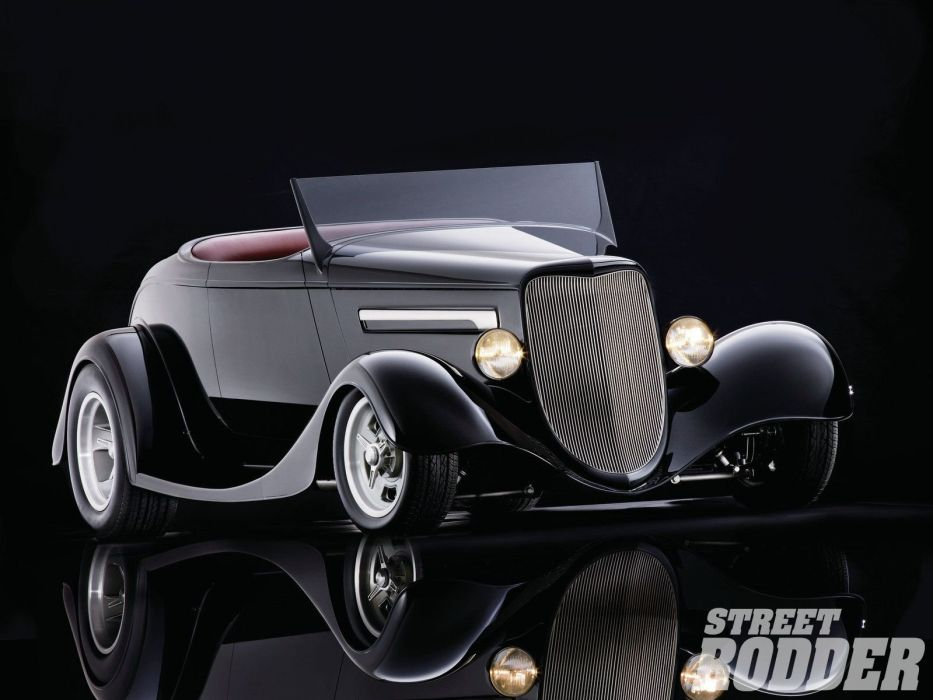 1934 Ford Roadster Hotrod Streetrod Hot Rod Street White Black USA 1600x1200-01 wallpaper
