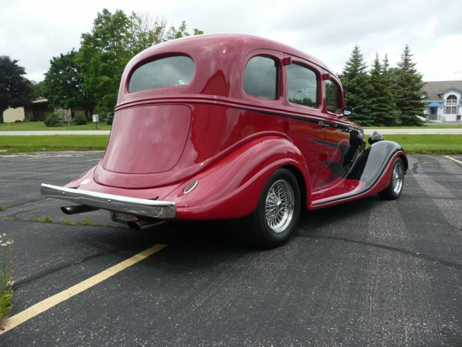 1934 Hudson Terra Plane Sedan 4 Door Hotrod Streetrod Hot Rod Street Red USA 1600x1200-02 wallpaper
