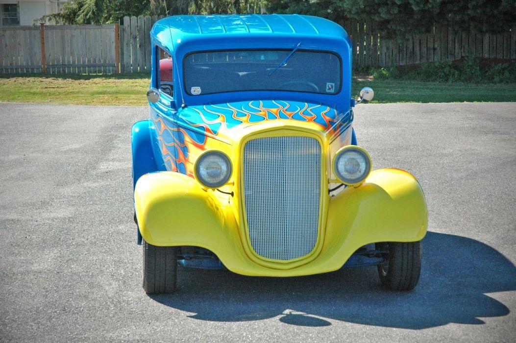 1935 Chevy Sedan 2 Door Hotrod Streetrod Hot Rod Street Blue USA 1500x1000-02 wallpaper