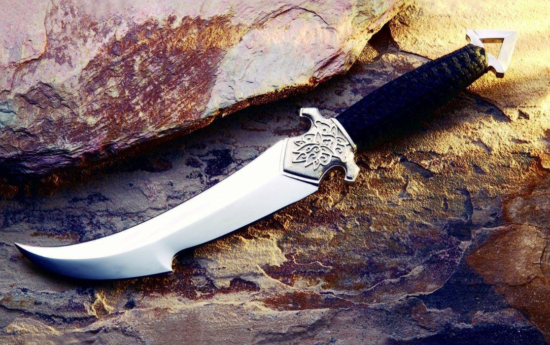 Dagger Engraving Stick rock stone Weapons knife rocks wallpaper
