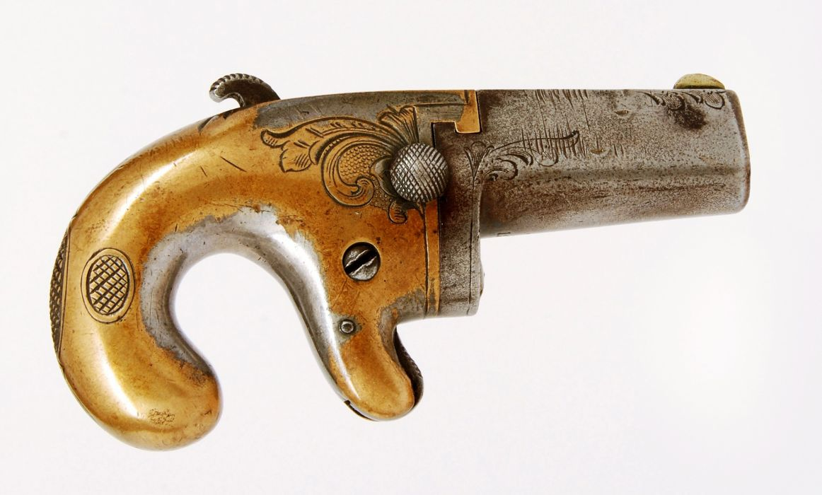 Deringer pocket gun weapon old pistol wallpaper