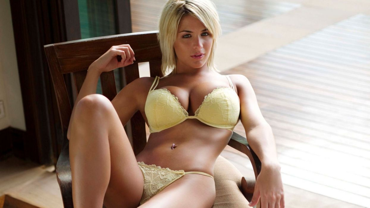 SENSUALITY - Gemma Atkinson girl blonde lingerie belly navel wallpaper