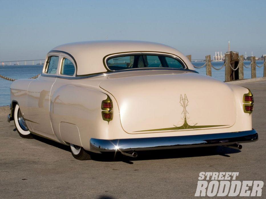 1954 Chevrolet BelAir Hotrod Hot Rod Custom Kustom Chopped Low USA 1600x1200-04 wallpaper