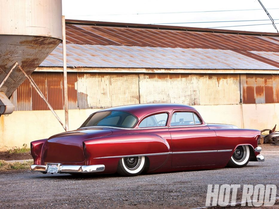 1954 Chevrolet BelAir Hotrod Hot Rod Custom Kustom Chopped Low USA 1600x1200-06 wallpaper