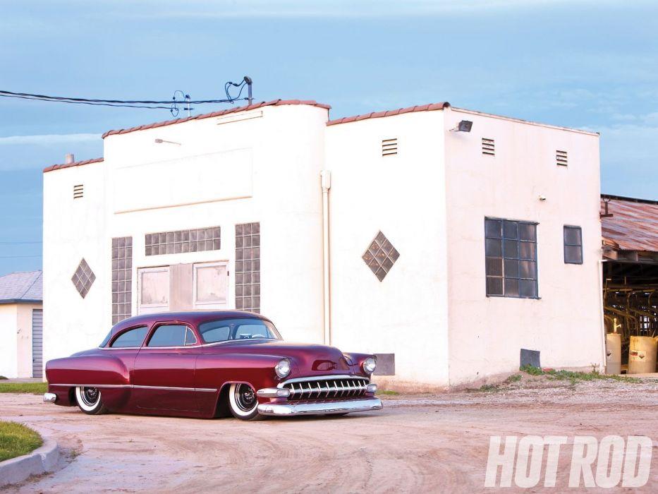 1954 Chevrolet BelAir Hotrod Hot Rod Custom Kustom Chopped Low USA 1600x1200-07 wallpaper