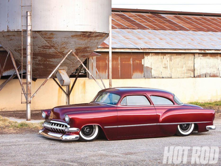 1954 Chevrolet BelAir Hotrod Hot Rod Custom Kustom Chopped Low USA 1600x1200-05 wallpaper