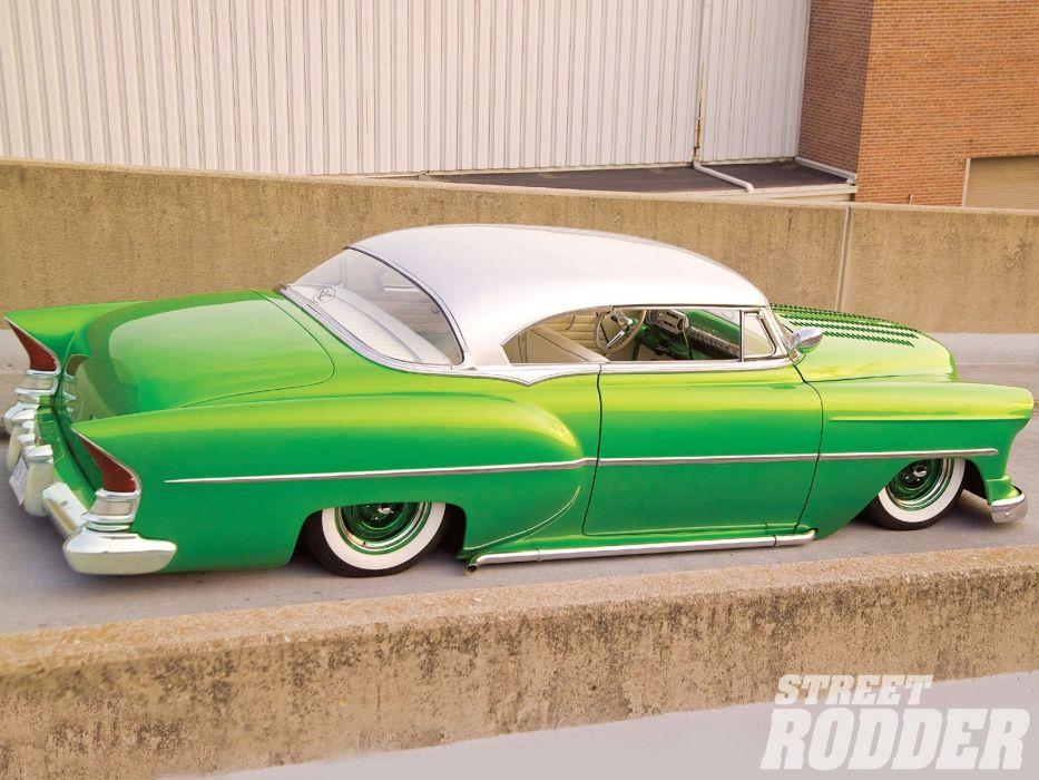 1954 Chevrolet BelAir Hotrod Hot Rod Custom Kustom Chopped Low USA 1600x1200-10 wallpaper