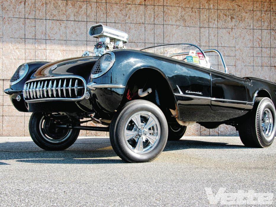 1954 Chevrolet Corvette Gasser Streetrod Street Rod Drag USA 1600x1200-02 wallpaper
