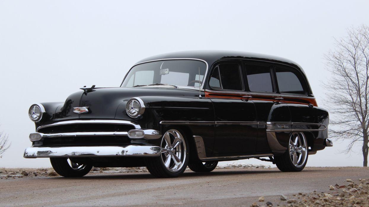 1954 Chevrolet 210 Wagon Hotrod Streetrod Hot Rod Street USA 3584x2016-01 wallpaper