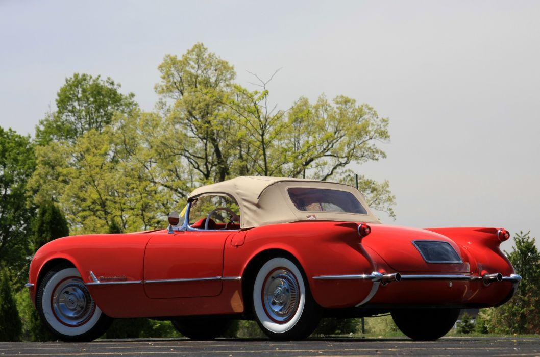 1954 Chevrolet Corvette Star Spangled Corvette Red Classic Old Vintage Original USA 3580x2380-03 wallpaper