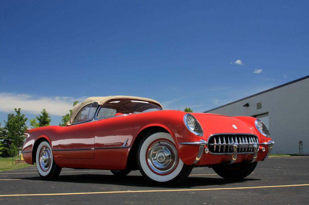 1954 Chevrolet Corvette Star Spangled Corvette Red Classic Old Vintage Original USA 3580x2380-02 wallpaper