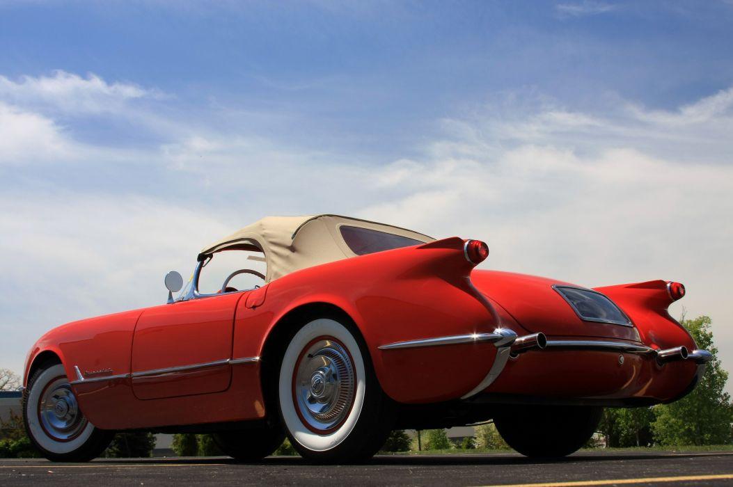 1954 Chevrolet Corvette Star Spangled Corvette Red Classic Old Vintage Original USA 3580x2380-04 wallpaper