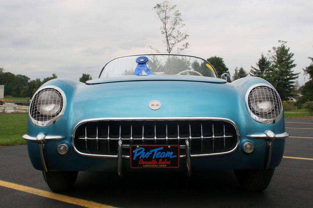 1954 Chevrolet Corvette-Blue Classic Old Vintage Original USA 3580x2380-01 wallpaper