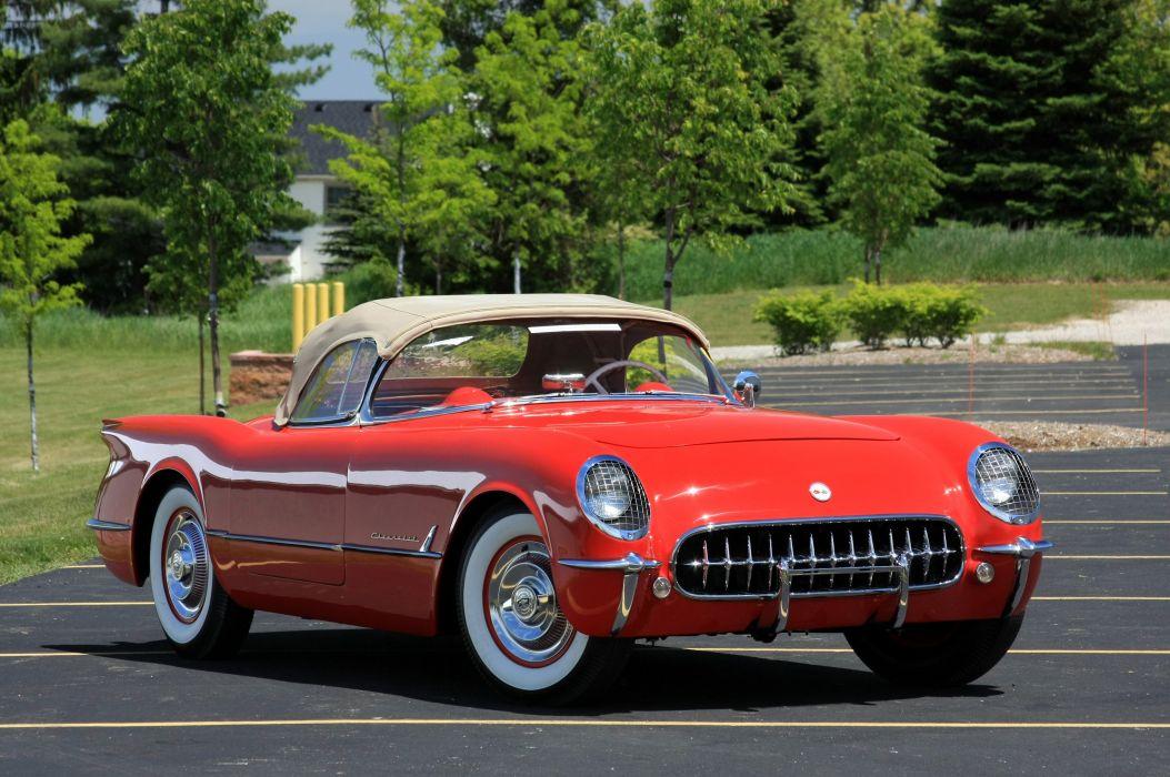 1954 Chevrolet Corvette Star Spangled Corvette Red Classic Old Vintage Original USA 3580x2380-01 wallpaper