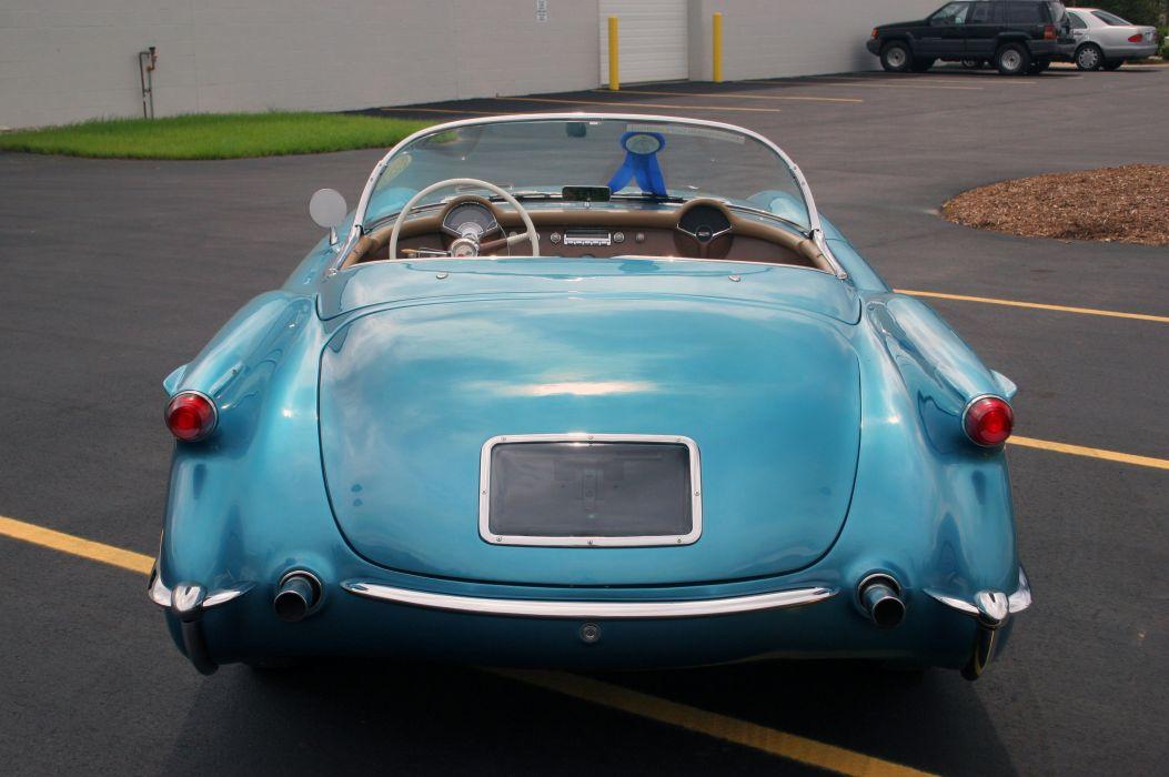 1954 Chevrolet Corvette-Blue Classic Old Vintage Original USA 3580x2380-03 wallpaper