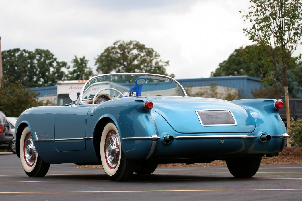 1954 Chevrolet Corvette-Blue Classic Old Vintage Original USA 3580x2380-04 wallpaper