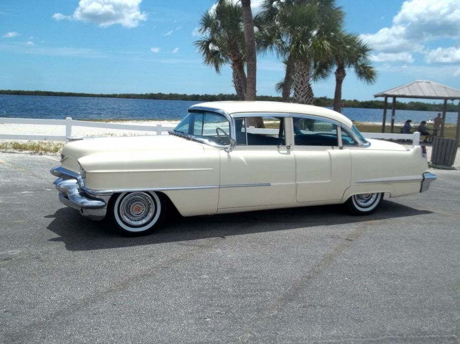 1956 Cadillac Series 62 Sedan Four Door Classic Old Vintage Retro Original USA 3072x2303-02 wallpaper