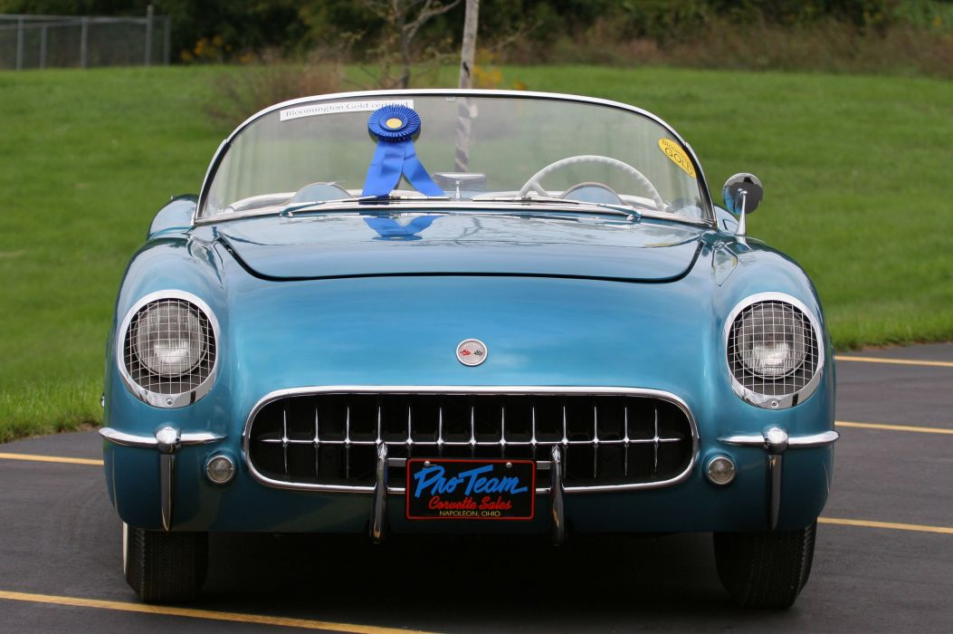 1954 Chevrolet Corvette-Blue Classic Old Vintage Original USA 3580x2380-06 wallpaper