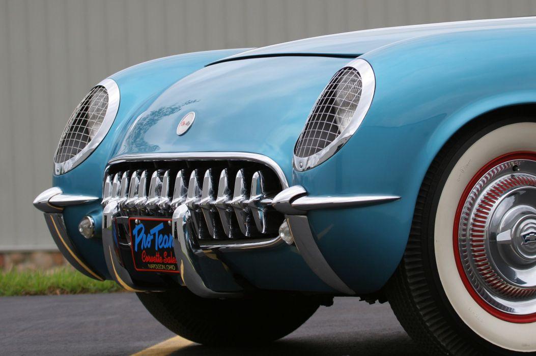 1954 Chevrolet Corvette-Blue Classic Old Vintage Original USA 3580x2380-05 wallpaper