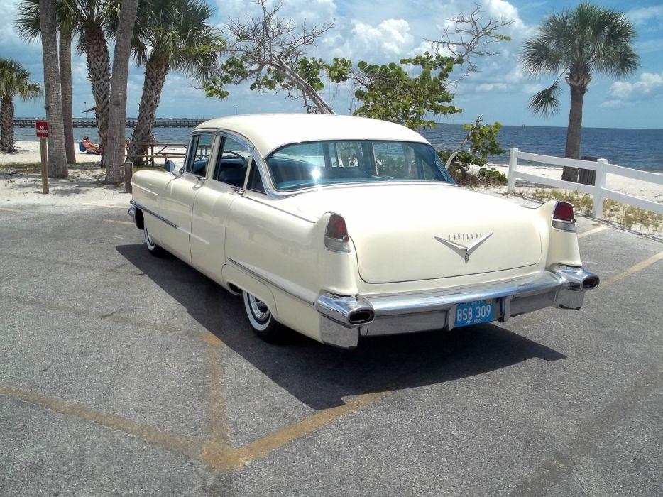 1956 Cadillac Series 62 Sedan Four Door Classic Old Vintage Retro Original USA 3072x2303-05 wallpaper