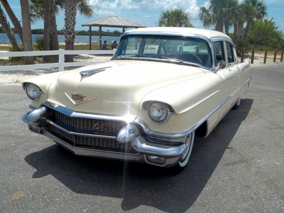 1956 Cadillac Series 62 Sedan Four Door Classic Old Vintage Retro Original USA 3072x2303-08 wallpaper