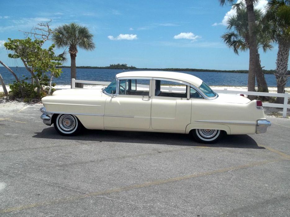 1956 Cadillac Series 62 Sedan Four Door Classic Old Vintage Retro Original USA 3072x2303-09 wallpaper