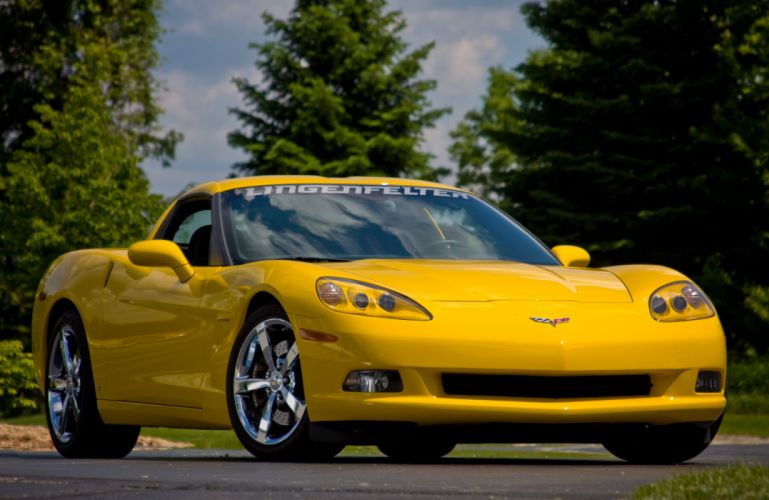 2008 Chevrolet Corvette C6 Yellow Lingenfelter 670 HP Supercharged LS3 Muscle Super Car USA 4000x2600-01 wallpaper