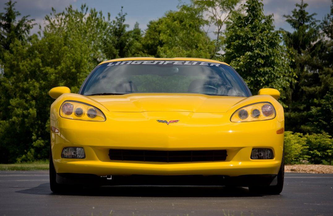 2008 Chevrolet Corvette C6 Yellow Lingenfelter 670 HP Supercharged LS3 Muscle Super Car USA 4000x2600-04 wallpaper