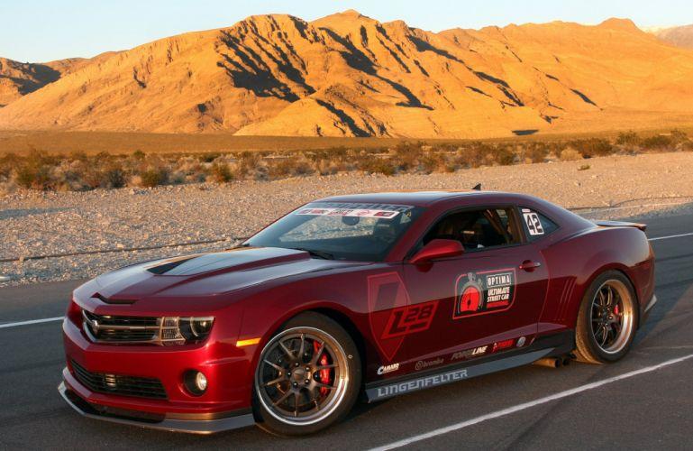 2010 Chevrolet Camaro L28 Red Lingenfelter Optima Challenge Muscle Super Car USA 4000x2600-02 wallpaper