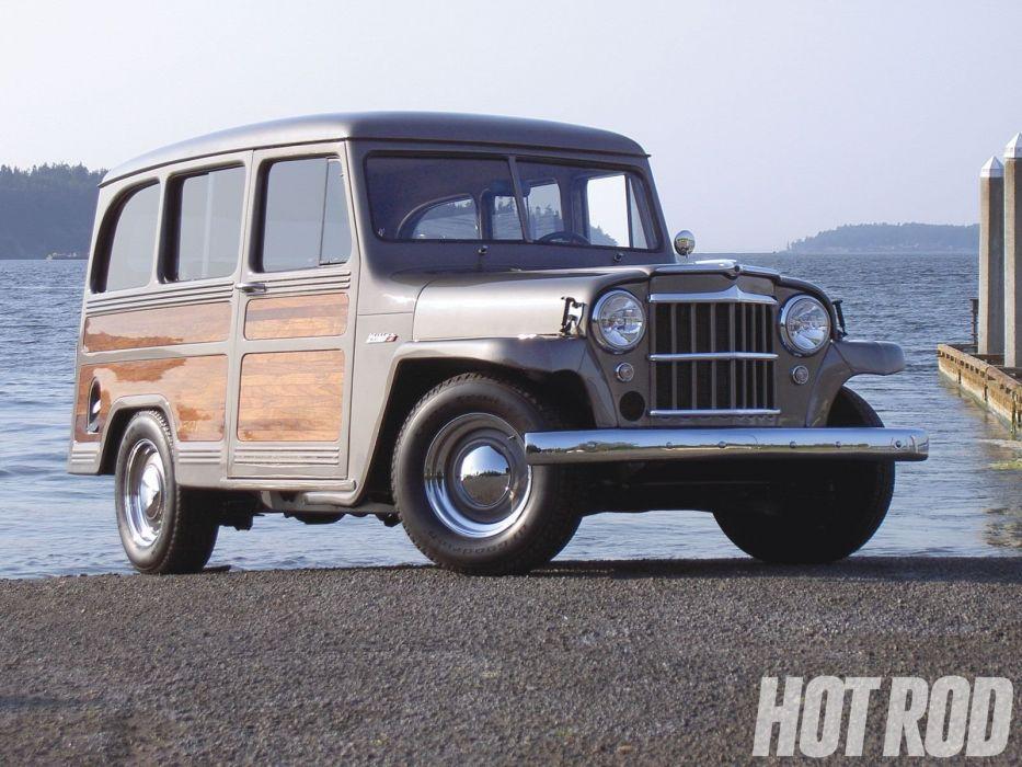 1953 Willys Wagon Hotrod Hot Rod Custom Old School USA 1600x1200-03 wallpaper