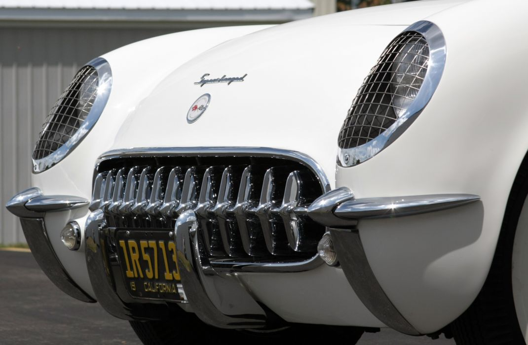 1953Chevrolet Corvette Supercharged Classic Old Vintage Original White USA 3548x2354-01 wallpaper