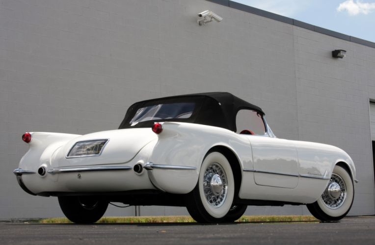1953Chevrolet Corvette Supercharged Classic Old Vintage Original White USA 3548x2354-03 wallpaper