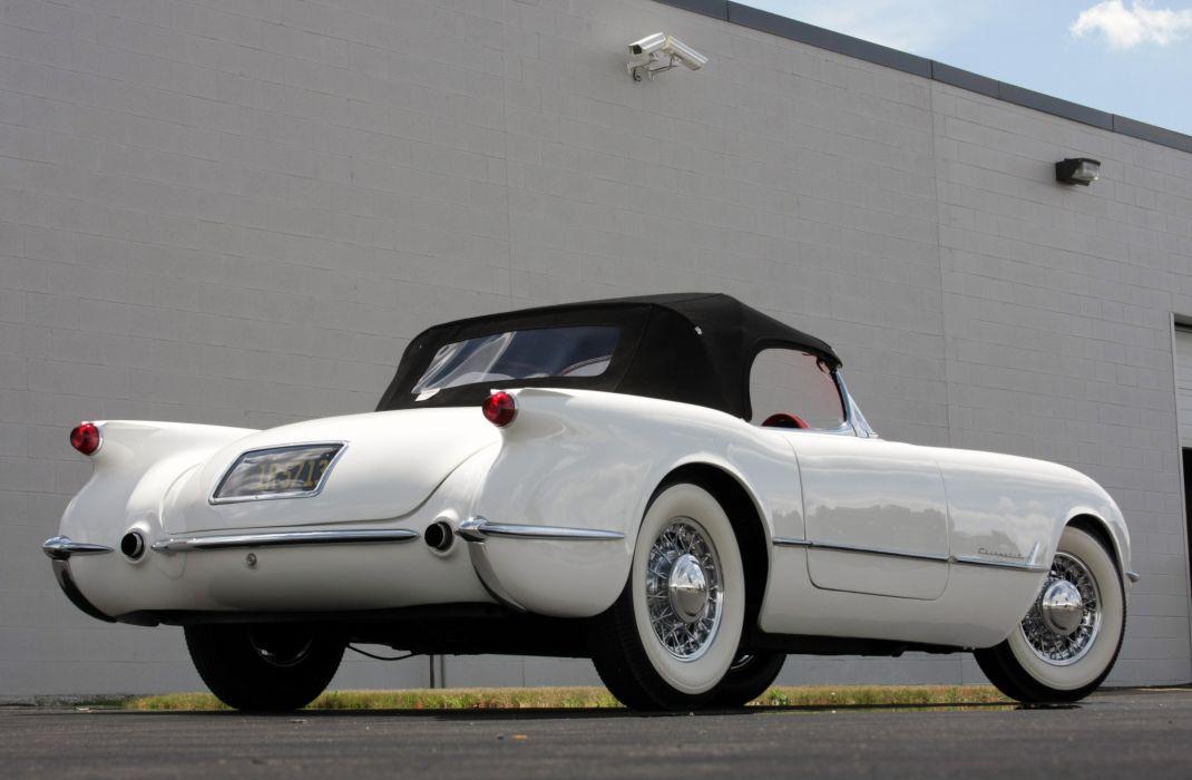1953Chevrolet Corvette Supercharged Classic Old Vintage Original White USA 3548x2354-03 wallpaper