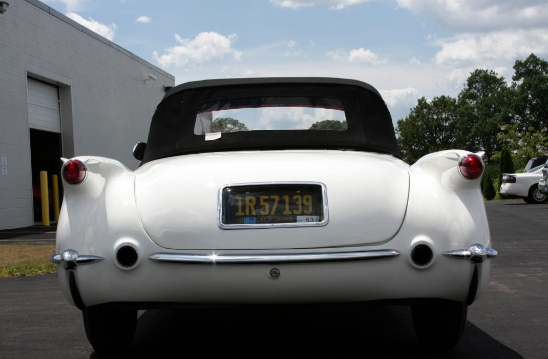 1953Chevrolet Corvette Supercharged Classic Old Vintage Original White USA 3548x2354-06 wallpaper