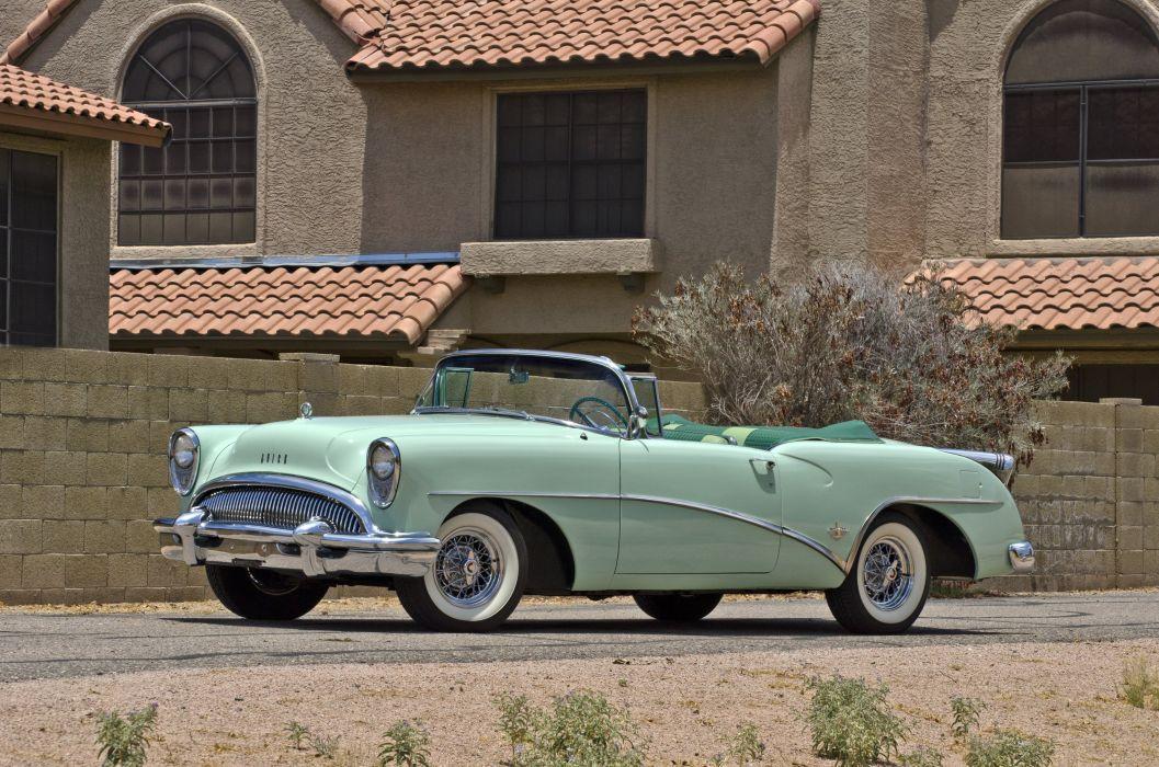 1954 Buick Skylark Convertible Classic Old Retro Street USA 4200x2780-01 wallpaper