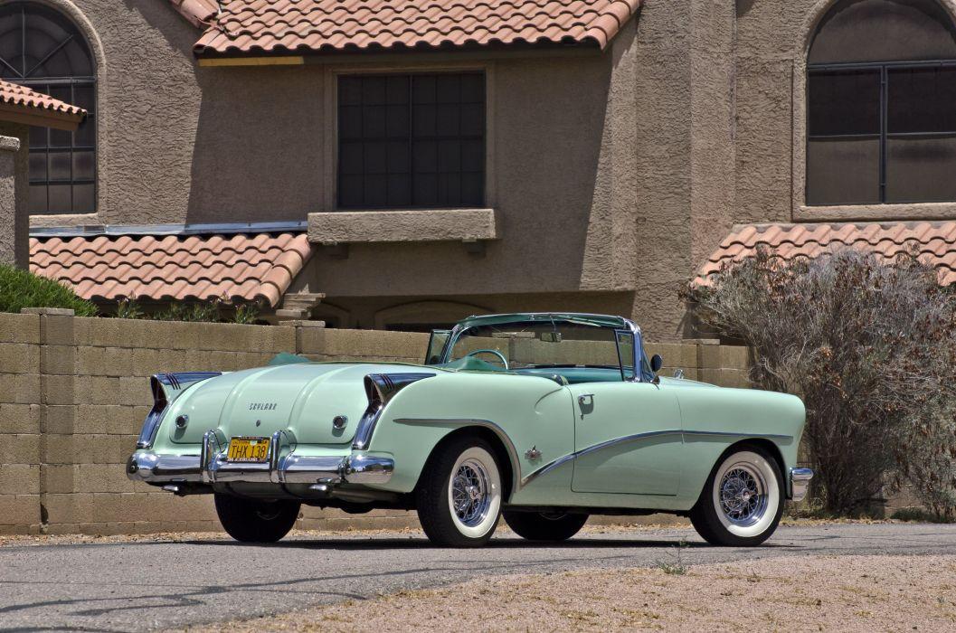 1954 Buick Skylark Convertible Classic Old Retro Street USA 4200x2780-04 wallpaper