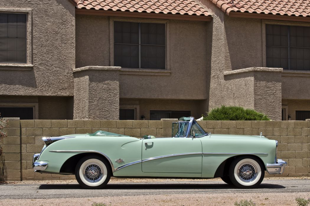 1954 Buick Skylark Convertible Classic Old Retro Street USA 4200x2780-03 wallpaper