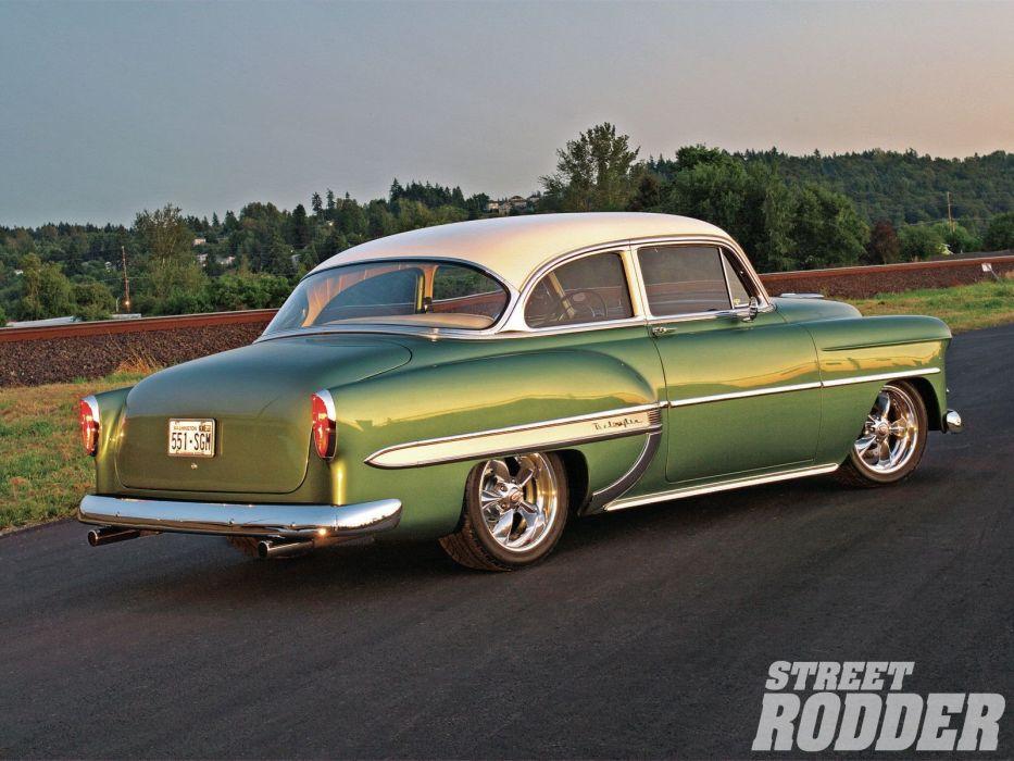 1953 Chevrolet Belair Coupe Hotrod Streetrod Hot Rod Street USA 1600x1200-02 wallpaper