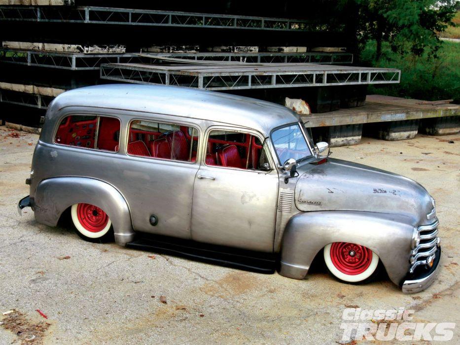 1953 Chevrolet Suburban Bare Meta Hotrod Hot Rod Custom Kustom Old School USA 1600x1200-02 wallpaper