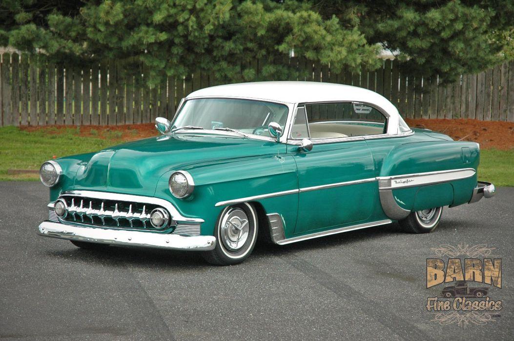 1953 Chevy BelAir 2 Door Hard Top Hotrod Hot Rod Custom Low Old School USA 1500x1000-01 wallpaper
