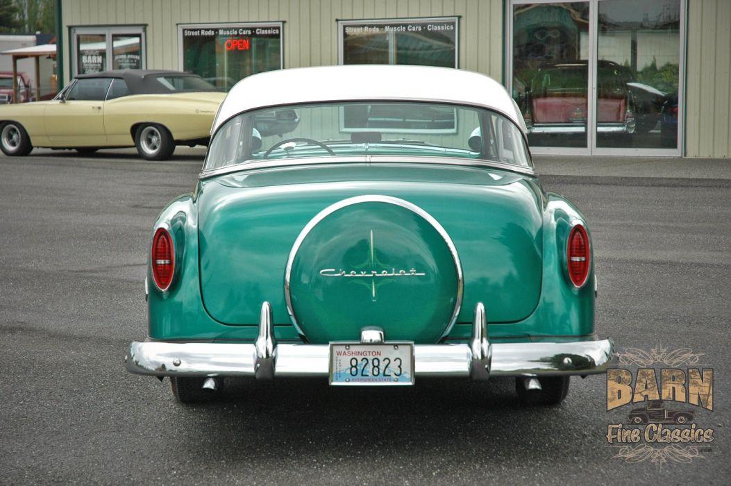 1953 Chevy BelAir 2 Door Hard Top Hotrod Hot Rod Custom Low Old School USA 1500x1000-03 wallpaper