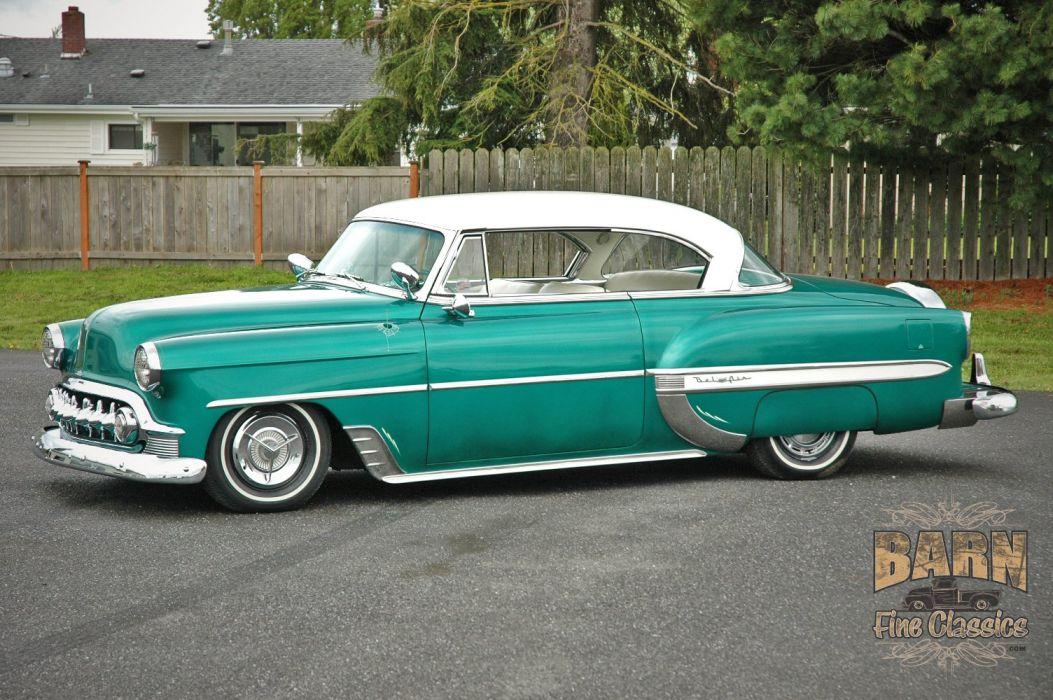 1953 Chevy BelAir 2 Door Hard Top Hotrod Hot Rod Custom Low Old School USA 1500x1000-02 wallpaper