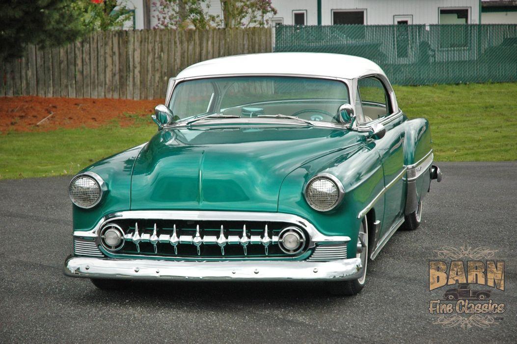 1953 Chevy BelAir 2 Door Hard Top Hotrod Hot Rod Custom Low Old School USA 1500x1000-05 wallpaper