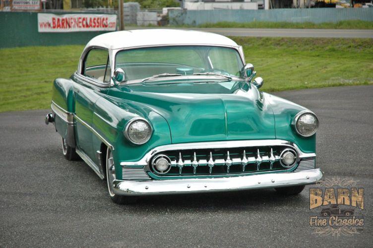 1953 Chevy BelAir 2 Door Hard Top Hotrod Hot Rod Custom Low Old School USA 1500x1000-04 wallpaper