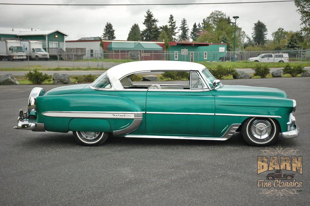 1953 Chevy BelAir 2 Door Hard Top Hotrod Hot Rod Custom Low Old School USA 1500x1000-06 wallpaper