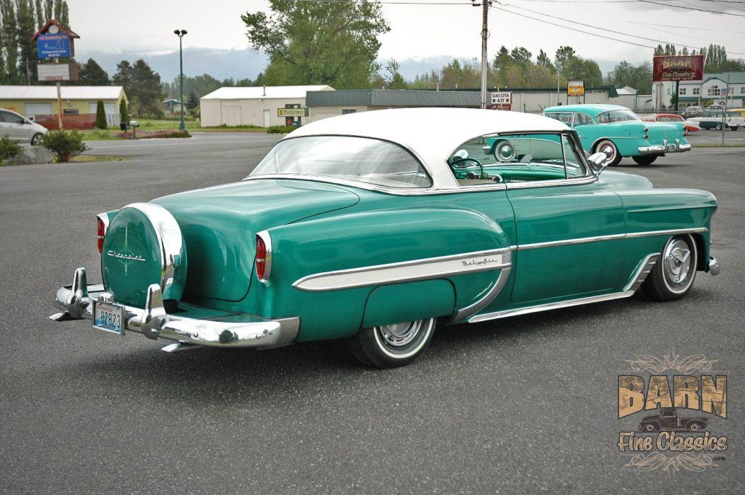 1953 Chevy BelAir 2 Door Hard Top Hotrod Hot Rod Custom Low Old School USA 1500x1000-07 wallpaper
