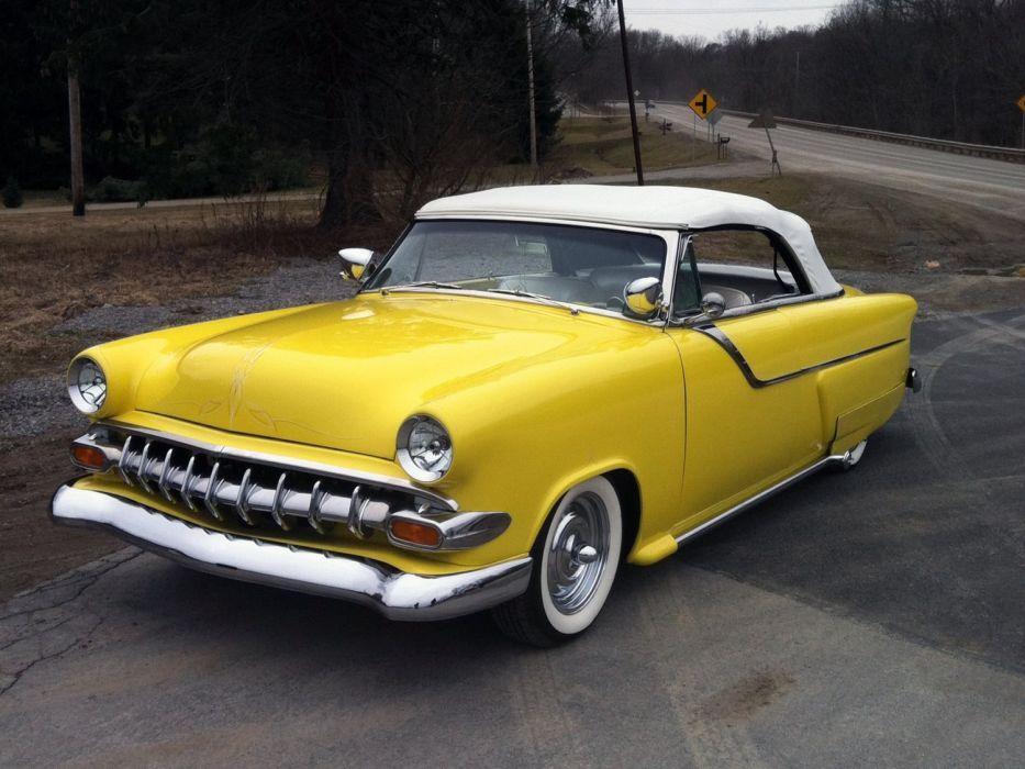 1953 Ford Custom Convertible Kustom Hotrod Hot Rod Low USA 1500x1125-01 wallpaper