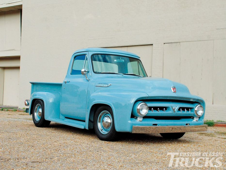 1953 Ford F100 Pickup Hotrod Hot Rod Custom Old School USA 1600x1200-03 wallpaper