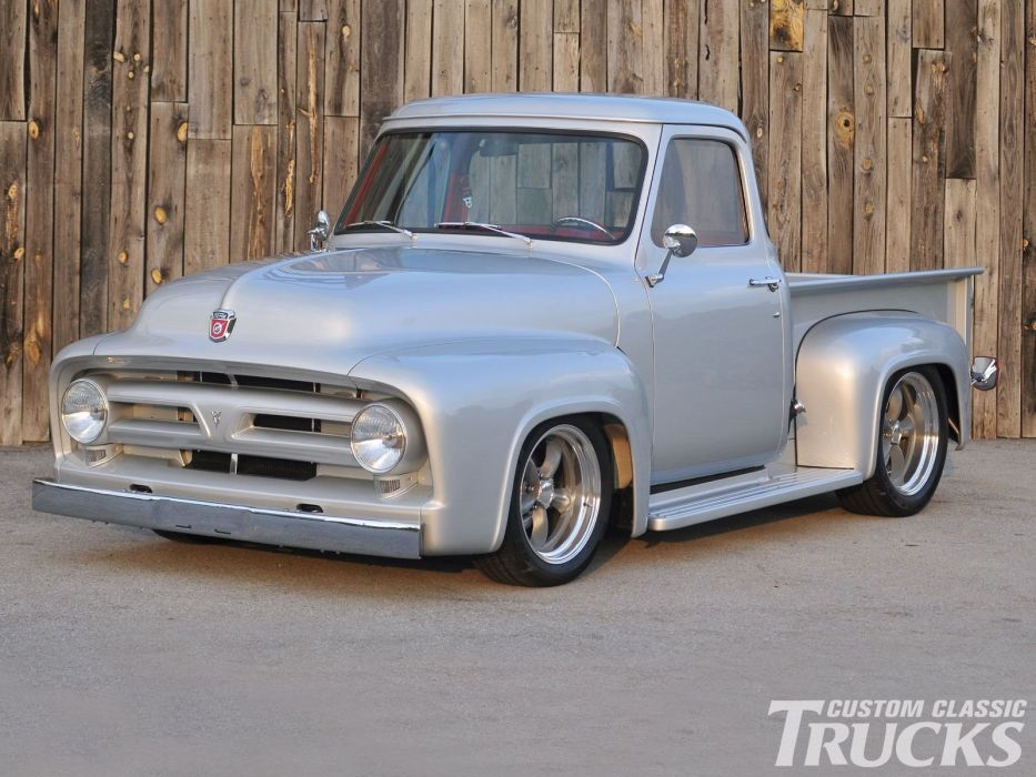1953 Ford F100 Pickup Hotrod Streetrod Hot Rod Street USA 1600x1200-05 wallpaper